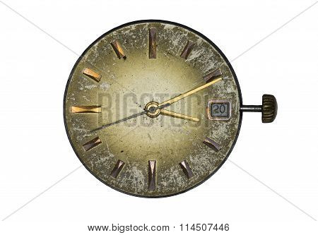Old clock dial
