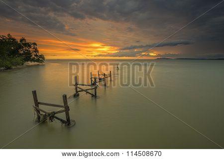 Fishing Pier during sunset