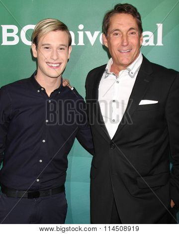 LOS ANGELES - JAN 14:  Tyler Henry, Michael Corbett at the NBCUniversal Cable TCA Press Day Winter 2016 at the Langham Huntington Hotel on January 14, 2016 in Pasadena, CA