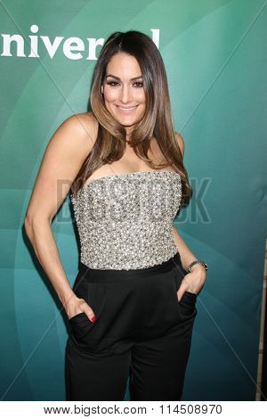 LOS ANGELES - JAN 14:  Nikki Bella at the NBCUniversal Cable TCA Press Day Winter 2016 at the Langham Huntington Hotel on January 14, 2016 in Pasadena, CA