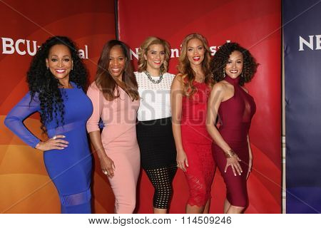 LOS ANGELES - JAN 14:  Real Housewives of Potomac at the NBCUniversal Cable TCA Press Day Winter 2016 at the Langham Huntington Hotel on January 14, 2016 in Pasadena, CA
