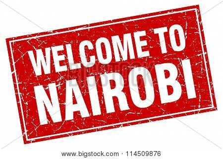 Nairobi Red Square Grunge Welcome To Stamp