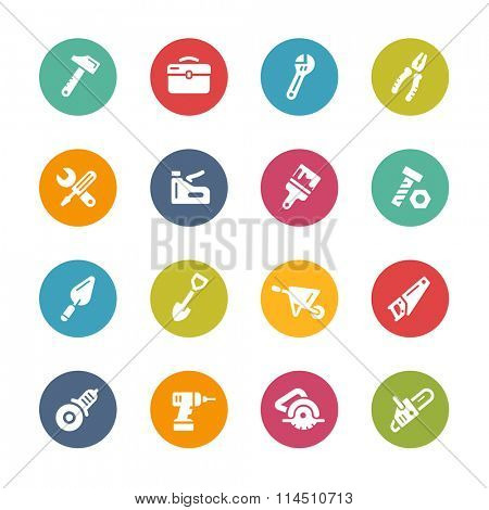 Tools Icons // Fresh Colors Series ++ Icons and buttons in different layers, easy to change colors ++