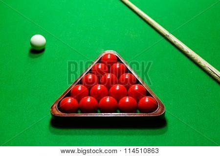 Snooker Ball On ? Billiard Table