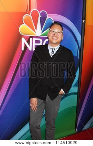 LOS ANGELES - JAN 13:  Nico Santos at the NBCUniversal TCA Press Day Winter 2016 at the Langham Huntington Hotel on January 13, 2016 in Pasadena, CA