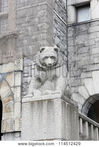 Bear Sculpture - Architectural Decoration Of National Museum Of Finland