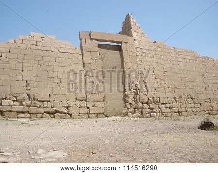 The Ramesseum Is The Memorial Temple Of Pharaoh Ramesses Ii