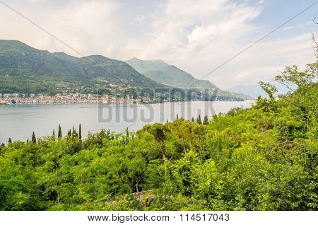 Panoramic View Over The Town Of Salo, On The Lake Garda, Italy