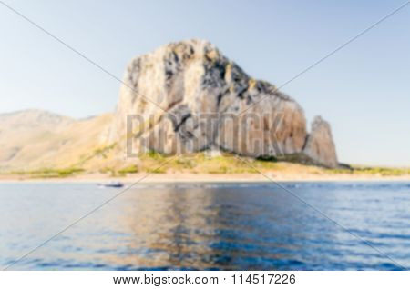 Defocused Background With View Of San Vito Lo Capo, Italy