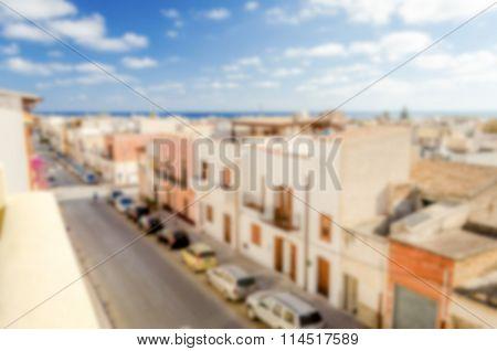 Defocused Background.of San Vito Lo Capo, Sicily, Italy