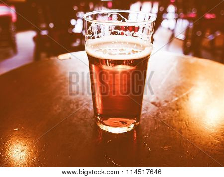 Pint Of Beer Vintage