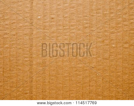 Retro Look Brown Corrugated Cardboard Background