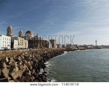 Seafront at Cadiz, Andalucia, Spain