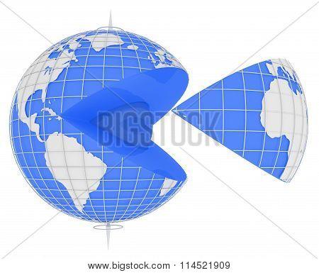 Blue Globe Slice