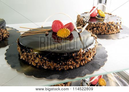 Chocolate Cakes For Sale At The Shop