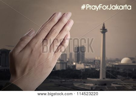 Hands Praying For Jakarta