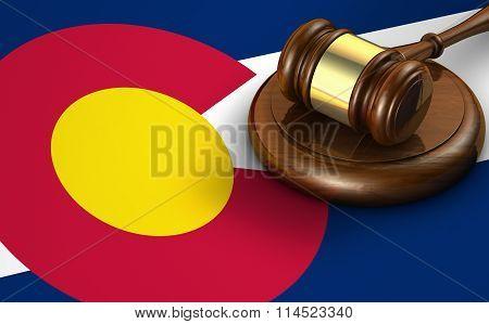 Colorado Law Legal System Concept