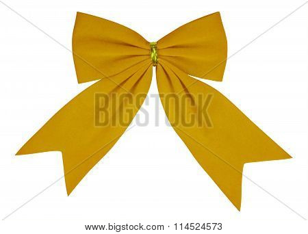 Velvet Bow - Yellow