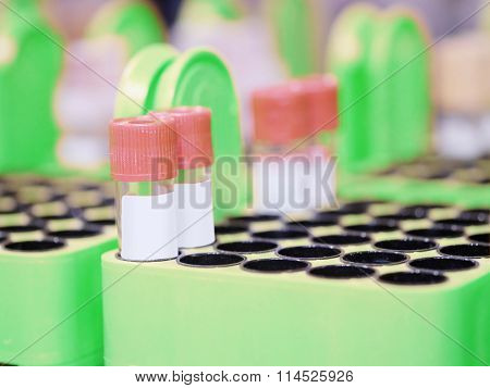 The image of a laboratory beakers