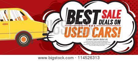 Used Car Best Sale Deal 6250X2500 Pixel Banner.