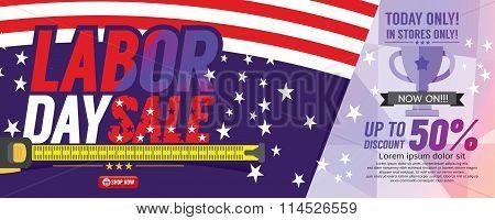 Labor Day Sale 6250X2500 Pixel Banner.