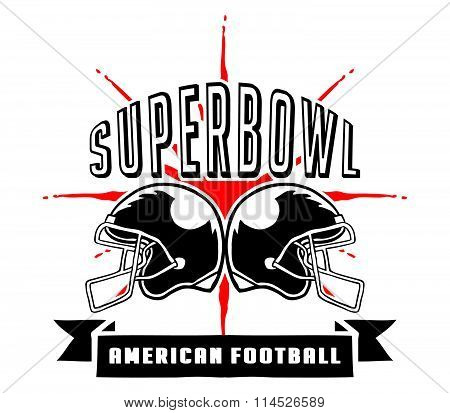 Superbowl And Football Badge Hand