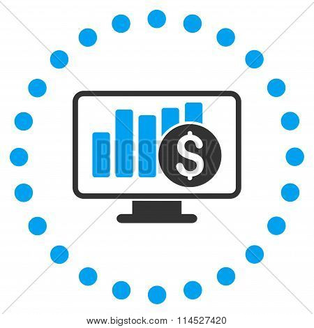 Stock Market Monitoring Icon