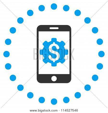 Mobile Bank Setup Flat Icon