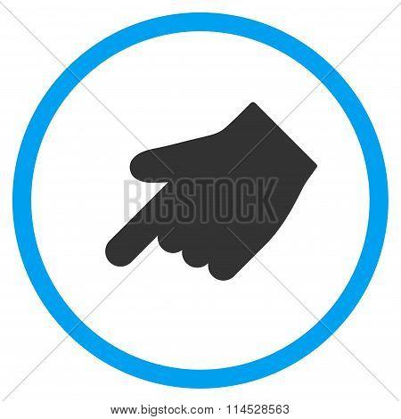 Down Left Index Finger Icon