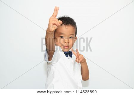 Japanese boy in formal dress (4 years old)