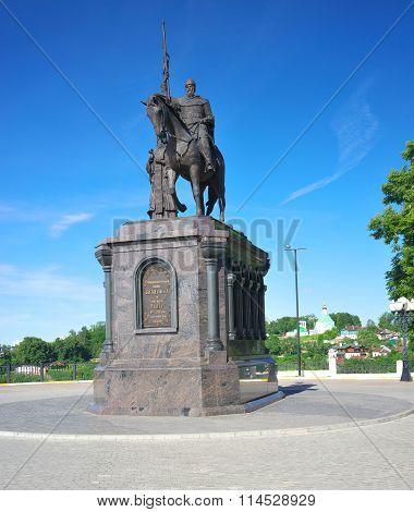 Vladimir, Vladimir region, Russia - June 17, 2015: The monument to Prince Vladimir.