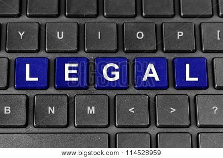 Legal Word On Keyboard