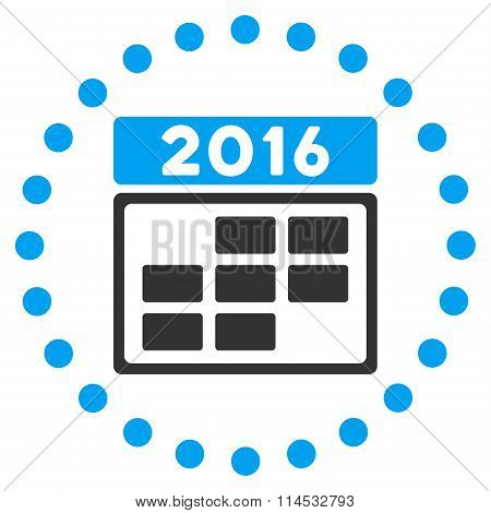 2016 Appointment Grid Icon
