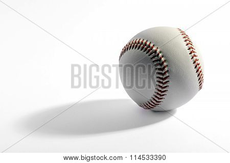 Baseball With Long Shadow