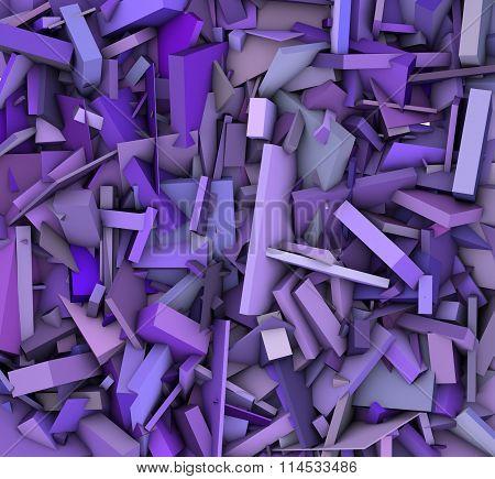 3D Abstract Shape Pattern Purple Backdrop