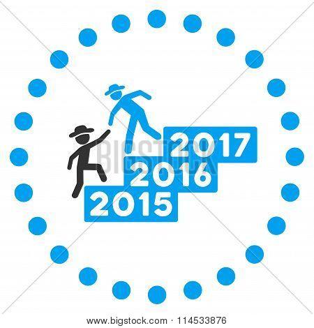 Man Annual Help Icon
