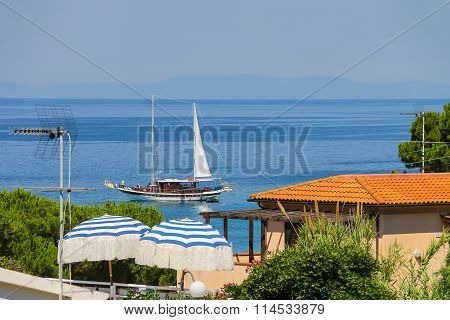 View Of Small Picturesque Town Sant Andreas On Elba Island, Italy