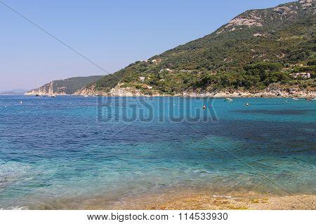 Coast Of Tyrrhenian Sea, Sant Andreas On Elba Island, Italy