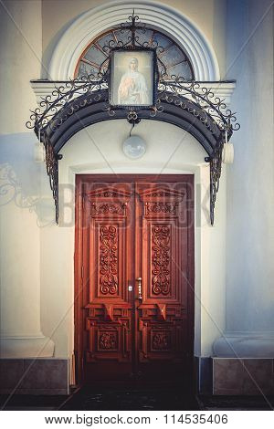Entrance Doors To The Church  Of St. Mary Magdalene