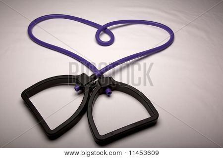 Exercise band heart