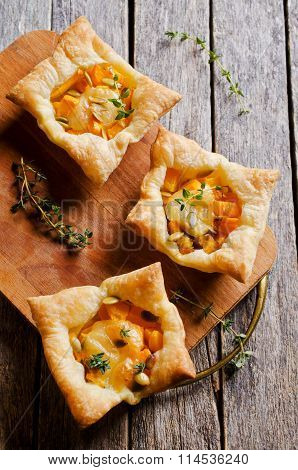 Tart With Pumpkin And Cheese