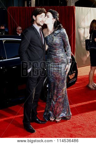 Matt Dallas and Jaimie Alexander at the Los Angeles Premiere of