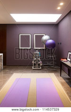 design and equipment in modern exercise room