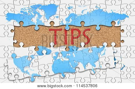 Jigsaw Puzzle Reveal  Word Tips