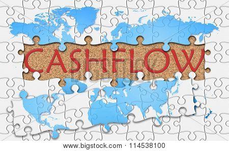 Jigsaw Puzzle Reveal  Word Cashflow