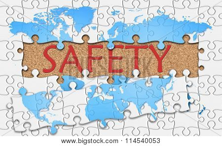 Jigsaw Puzzle Reveal  Word Safety