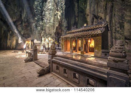 Marble Mountains Main Cave Sanctuary.