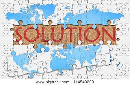 Jigsaw Puzzle Reveal  Word Solution