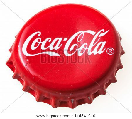 Above View Of Red Cap From Bottle Of Coca-cola