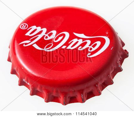 Used Red Bottle Cap From The Coca-cola